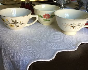 Mid Century Coffee/Teacup Lot-Edwin Knowles/Homer Laughlin/Taylor Smith-Orphaned Cups