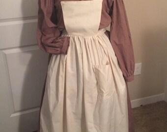 Custom 2 Piece Mid-Victorian Camp Dress Gettysburg Lincoln Reenactments Victorian Dress Civil War Dress Costume