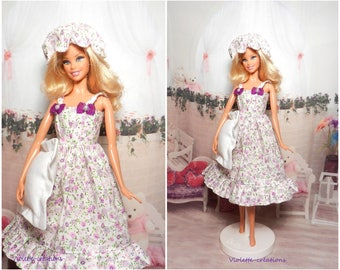 Nightgown for barbie doll, barbie outfit, barbie basic, Barbie fashionistas, barbie silkstone