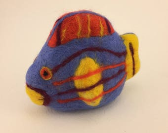Colorful Fish Felted Soap Sculpture