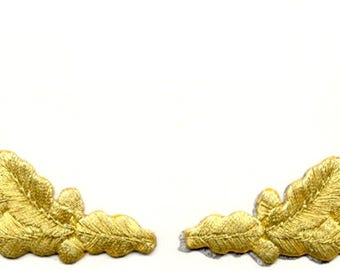 Scrambled Eggs - Gold Metallic - Embroidered Iron On Patch - Uniform,Hat,Costume