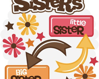 Scrapbook Die cut, Scrapbooking Die Cuts, Sisters scrapbook die cuts, Sisters Scrapbook embellishment, die cuts, paper crafts, sisters