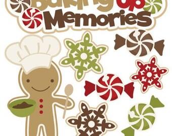 Christmas die cuts, christmas embellishments, Christmas Scrapbook, scrapbook embellishments, Gingerbread die cuts, baking die cuts