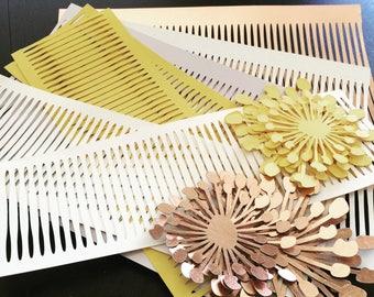 Pre cut paper for paper flower centers