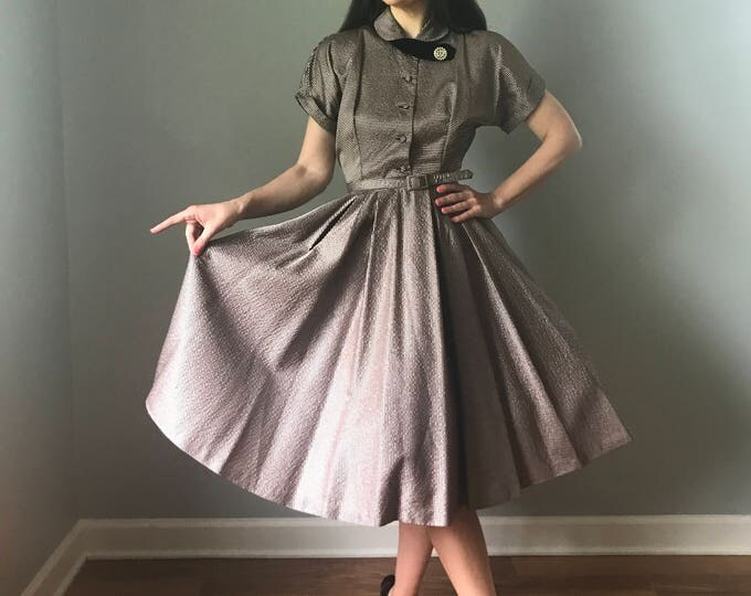 Vintage 50s New Look Irridescent Party Dress