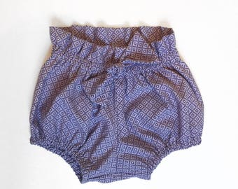 Lilac High Waisted Bloomers for Girls Size 12-18 months Ready to Ship One of a Kind