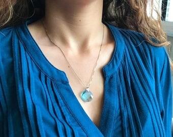 30% OFF Blue Topaz Necklaces- Topaz Necklaces- Gemstone Necklaces- Swarovski Necklaces- Necklaces-Swarovski Crystal Necklace- Blue Necklace