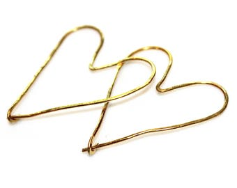 Minimalist Heart Earrings Gold Heart Earrings Delicate Earrings Simple Earrings Lightweight Earrings Gift For Women Gift Under 50 FizzCandy