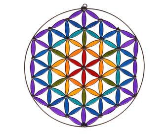 Flower of life  suncatcher sacred geometry Mandala Yoga decoration room altar hanging
