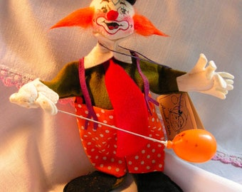 Vintage Annalee Happy Friendly Circus Clown Annalee Mobilitee Dolls Inc 1991