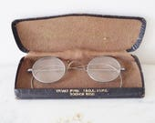 Vintage Spectacles/ Glasses With Silver Coloured Frames in Original Box