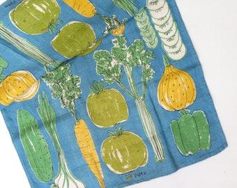 Vintage Vera Linen Dish Towel - 60s Vera Vegetable Themed Dish Towel - Classic Vera Linen Towel - Vintage Vera Textile