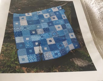"""Paper Pattern for a quilt called At the Spa designed by Calico Printworks 54"""" x 66"""""""
