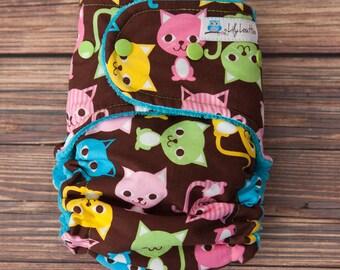 """AI2 Cloth Diaper- """"Spring Kittens"""""""