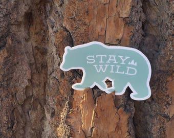 Stay Wild Bear   Vinyl Sticker Design