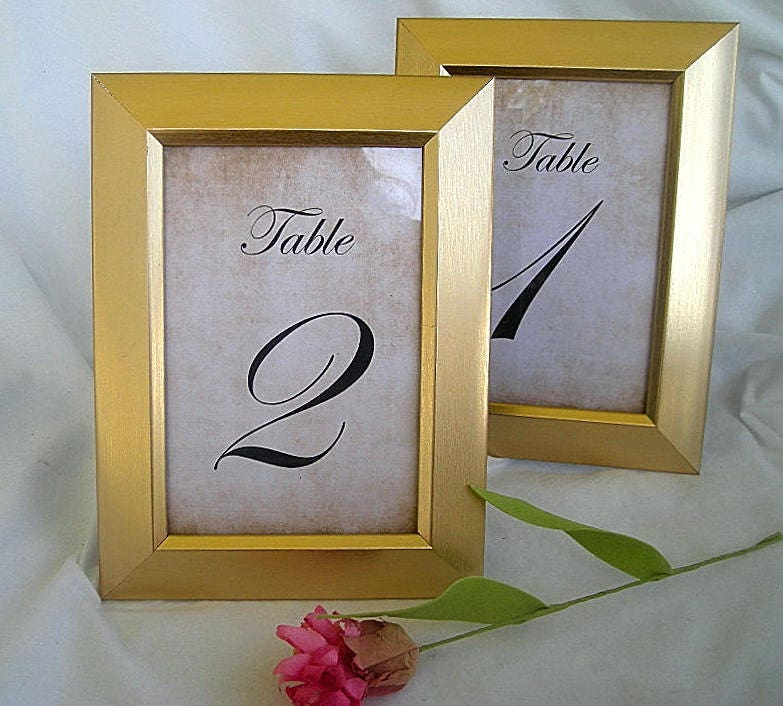 Table Card Frame Frames Gold Wedding Table Number Card Frames Table ...
