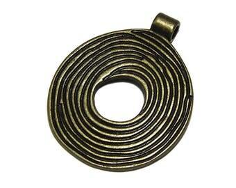 3 pendants ethnic bronze metal