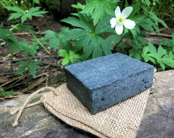 African Black Soap with Activated Charcoal, Plantain, Rosemary, Oat Milk - Vegan