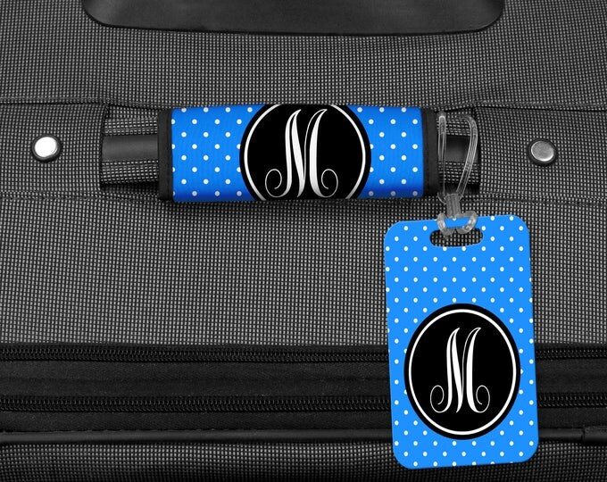 Featured listing image: Luggage Tag, Monogram Bag Tag, Luggage Wrap, Luggage Tag, Personalized luggage tag, Personalized luggage wrap, Bag tag