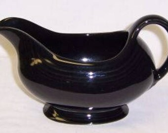 Homer Laughlin Black FIESTA GRAVY or SAUCE Boat