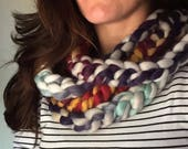 Chunky Knit Chain Scarf /...