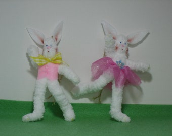 Pair of Easter Bunnies- 1 boy and 1 girl Easter Bunny