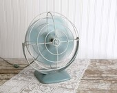 Reserved for Marie P - Vintage Aqua Electric Fan, GE Electric Fan, Vintage Metal Fan, Industrial Fan, Vintage Farmhouse, Mid Century