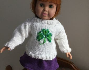 Shamrock Doll Sweater