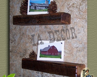 Beam Shelf -  Reclaimed Wood Floating Shelf - Barnwood Beam Shelf