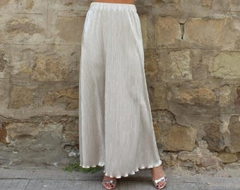 SALE ON 20 % OFF Pleated Maxi Skirt, Silver skirt, Long Skirt, Silver Maxi skirt, Party skirt, Maxi skirt, Elegant skirt