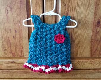 Crochet baby girl's dress