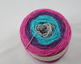 Gradient Get Happy Segue Tenacity gradient yarn 80/20 merino/silk fingering weight yarn shawl length skein extra length
