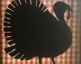 Turkey   Silhouette on check fabric