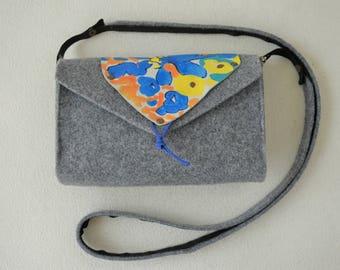 Manually painted handmade bag.