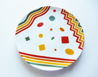 "Pie plate in porcelain ""Indian summer"""