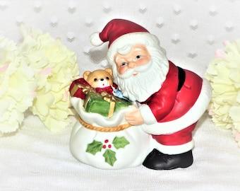 Vintage Homco Porcelain Santa Claus w/ Bag Figurine/Good Condition