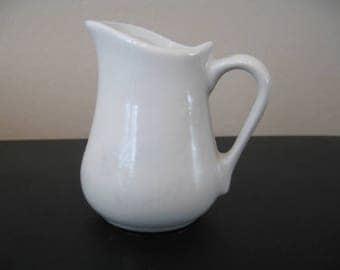 Vintage Cordon Bleu White Glazed Ceramic Creamer