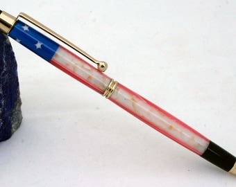 Flag stylus pen handcrafted American flag, pen stylus, acrylic stylus pen, touch stylus pen for touch screen electronic devices in US Flag