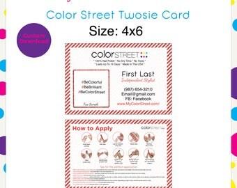 Color Street Twosie Christmas 4x6 --Custom Digital Download