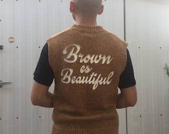 Brown Es Beautiful Sweater Vest