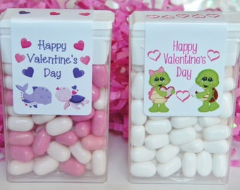 Tic Tac Stickers - Valentine Favors - Personalized Favors - Valentine Party - Valentine Party Favors - Valentine's Day Favors - TicTacs