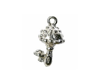 Sterling Silver Toadstool Charm For Bracelets