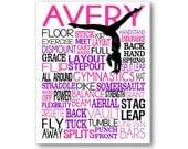 Gymnastics Poster Art Typography, Gymnastics Gift, Gymnastics Canvas, Gymnastics Poster, Gymnast Team Gift, Gymnast Gift, Gymnast Art Print