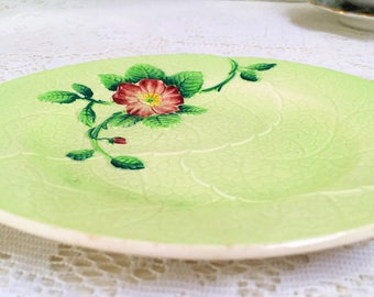 "Leaf Shaped  Side Plate ""Wild Rose"" Carlton Ware, Australian Design, M"