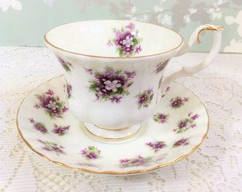 """Royal Albert """"Sweet Violets"""" Tea Duo"""
