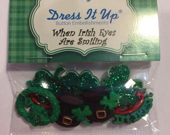 25% OFF SALE When Irish Eyes are Smiling Buttons