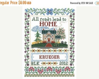 25% OFF SALE Imaginating Road to Home Cross Stitch Pattern