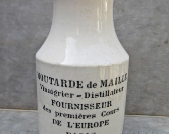 French ironstone old mustard pot
