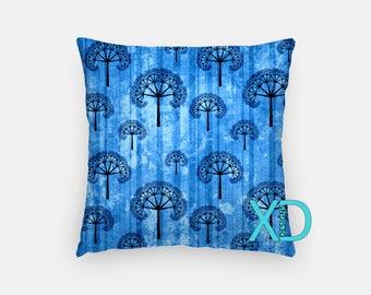 Dandelion Pillow, Plant Pillow Cover, Nature Pillow Case, Blue Pillow, Artistic Design, Home Decor, Decorative Pillow Case, Sham