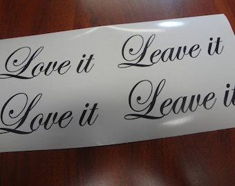 2 Sets Love it Leave it Hooks in Dressing Room Decal Custom DIY & Save Vinyl Letters Business Sign Decor Boutique Shop Store Clothing Club